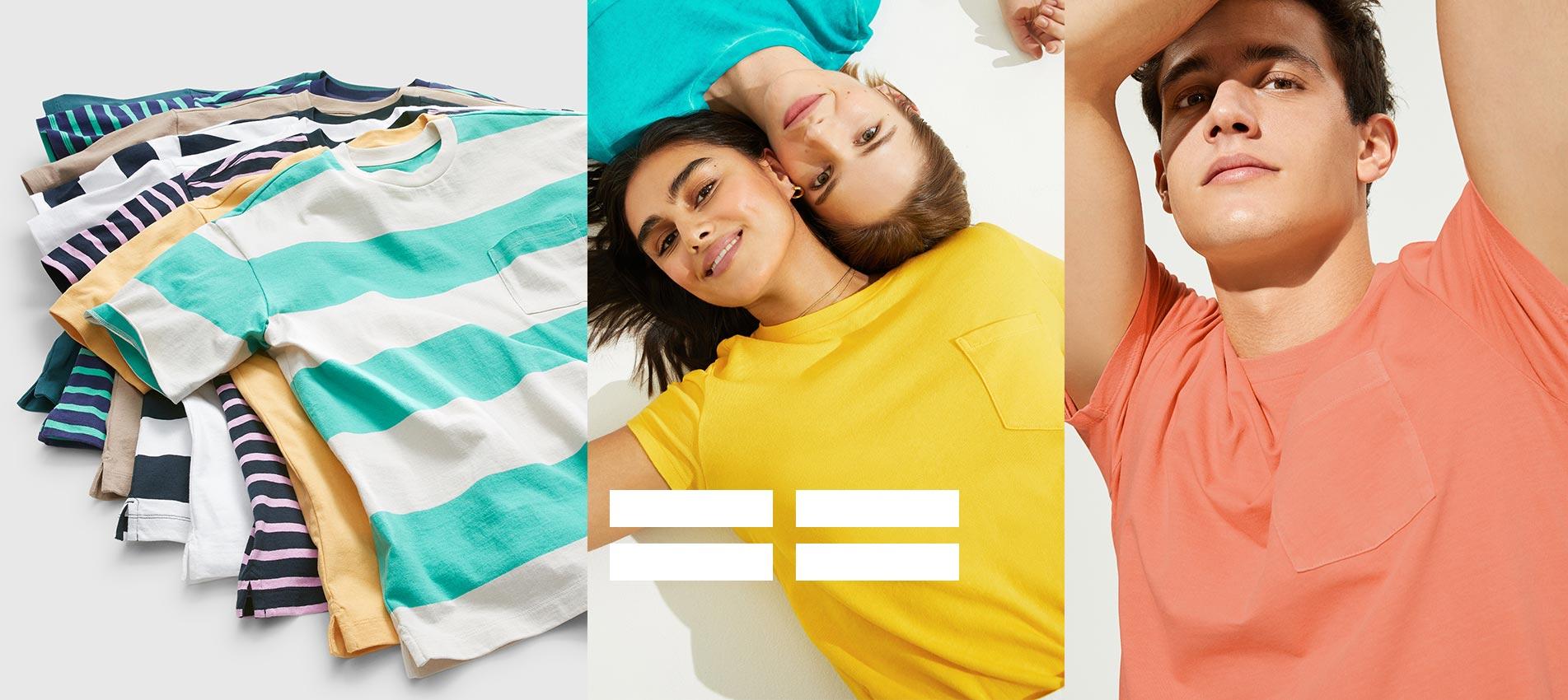 Güneşi seviyoruz! Özlediğimiz sıcak havaları rengarenk ve konforlu t-shirt'ler ile karşılıyoruz