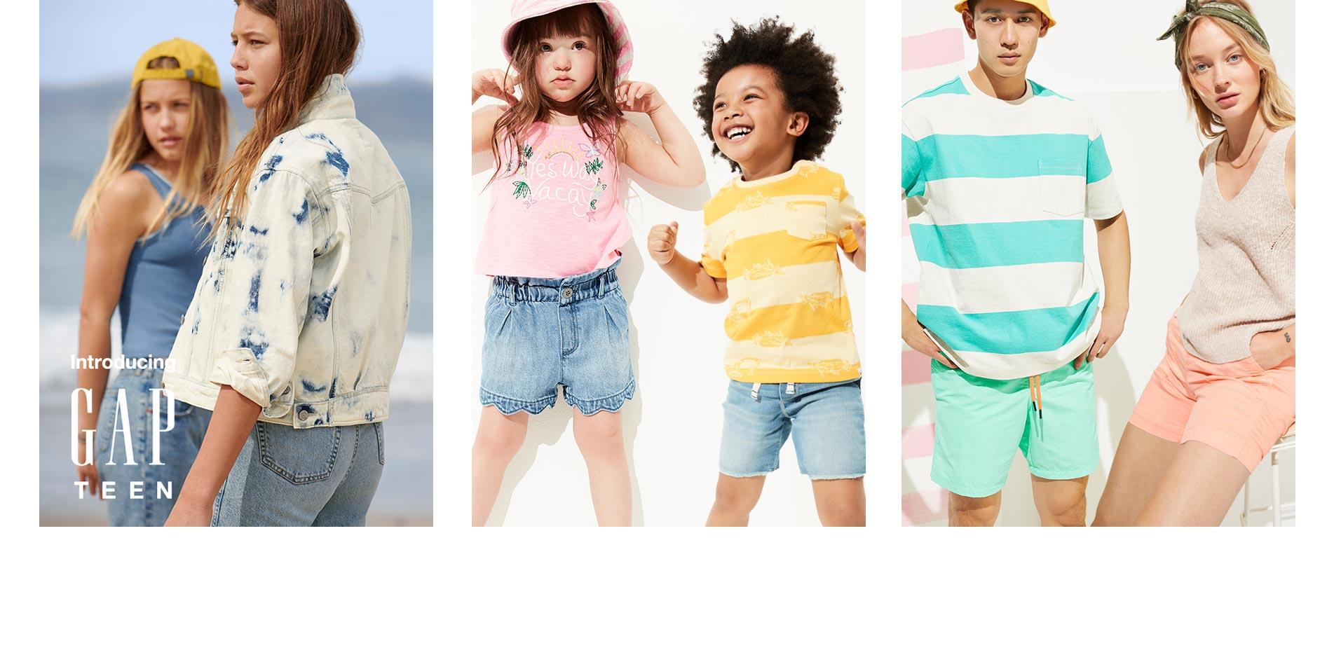 Kadın Elbise.Erkek Bebek T-shirt.Gap Şort.