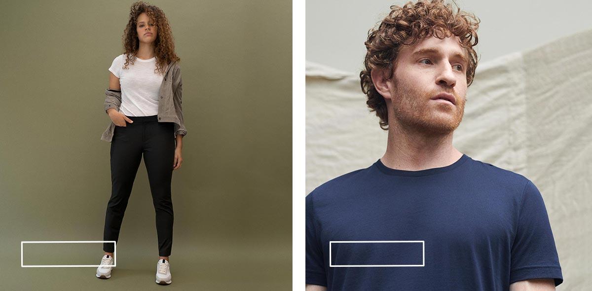 Kadın Pantolon, Erkek T-Shirt