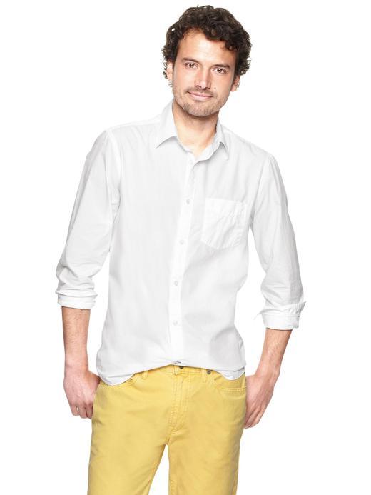 Lived-in Wash yama cepli gömlek