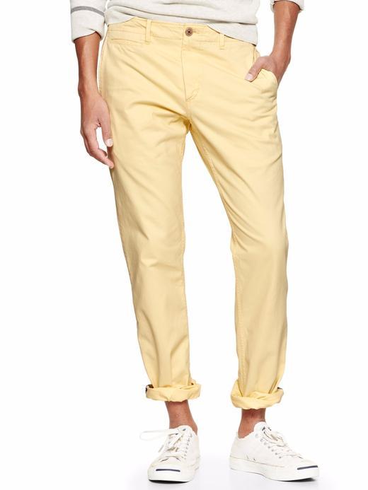 sarı Lived-in Slim Khaki