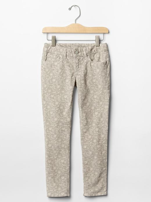 Kız Çocuk gri Super skinny kadife pantolon