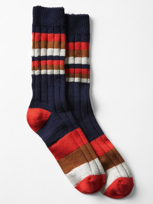 Karışık çizgili çorap