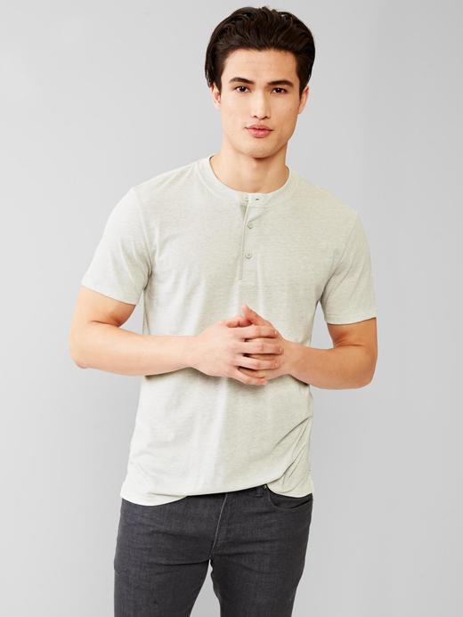 Tri-blend henley t-shirt