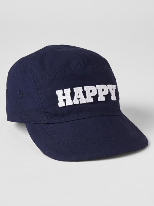 Bebek lacivert Happy yazılı baseball şapkası