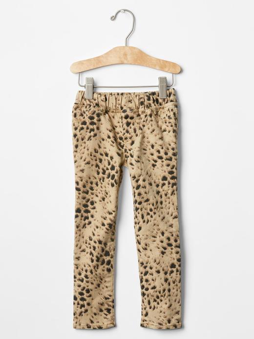 Bebek leopar Leopar desenli legging jean pantolon