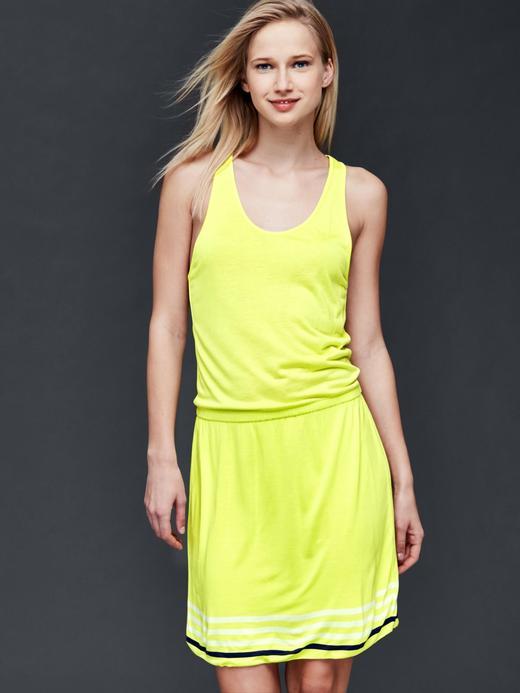 Kadın açık sarı Çizgili elbise