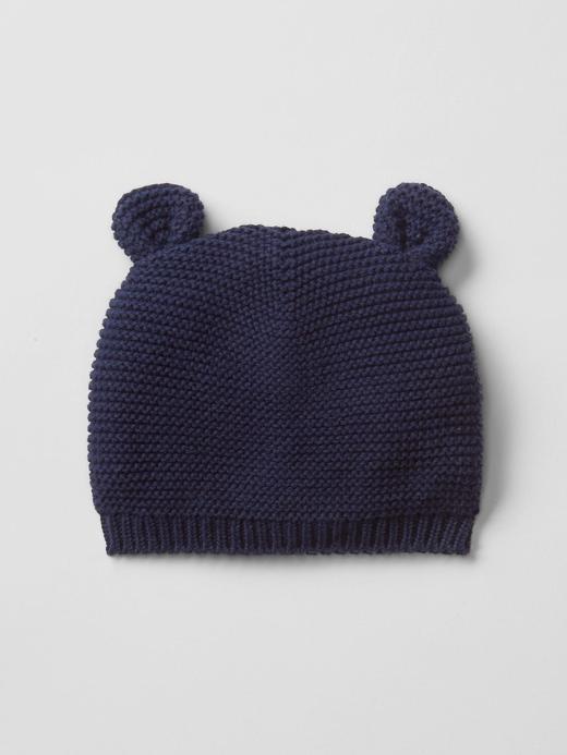 Bebek Lacivert Örgü şapka