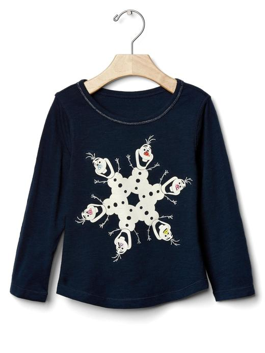 Bebek lacivert Grafik desenli t-shirt