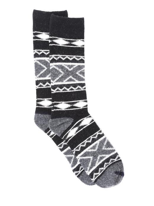 Otantik desenli çorap