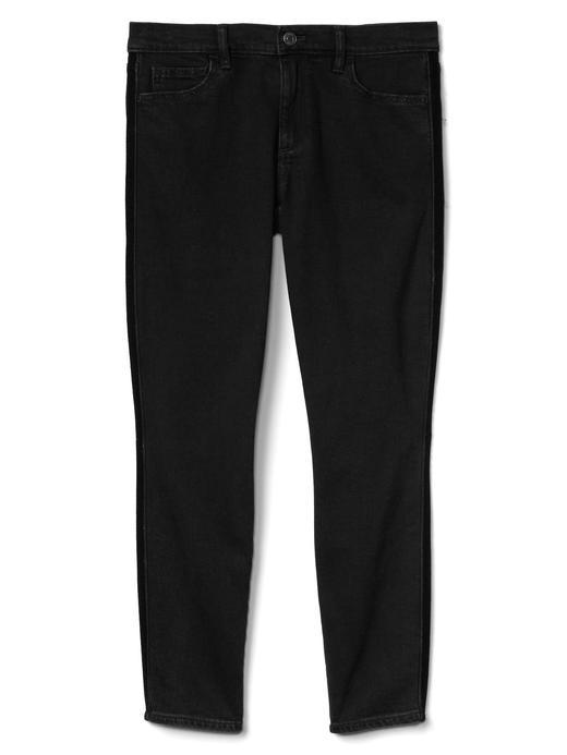 siyah 1969 true skinny bilekte biten jean pantolon
