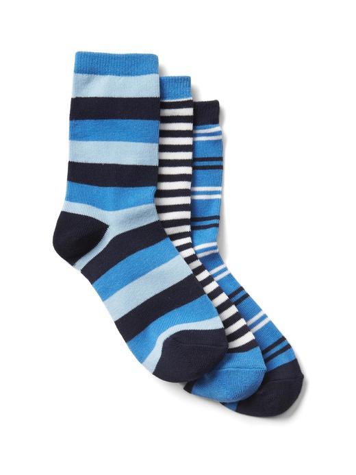Erkek Çocuk mavi çizgili Desenli çorap (3'lü)