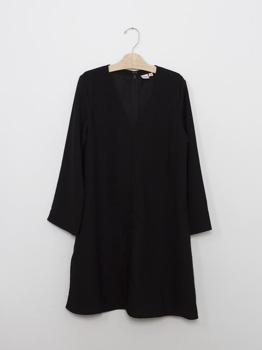 Kadın Siyah V yakalı elbise