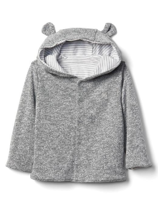 gri Çift taraflı ayıcık sweatshirt