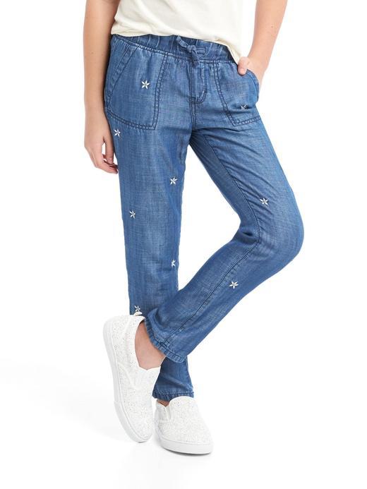 TENCEL™ işlemeli pantolon