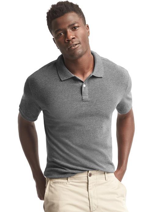 gri Polo yaka t-shirt