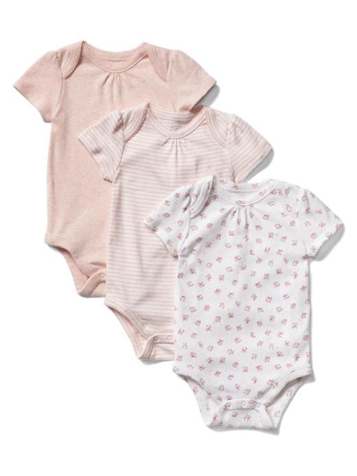 Bebek açık pembe Desenli body (3 parça)