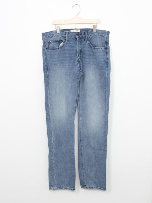 Erkek açık indigo Slim Fit jean pantolon