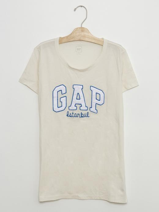 beyaz Gap Logolu t-shirt