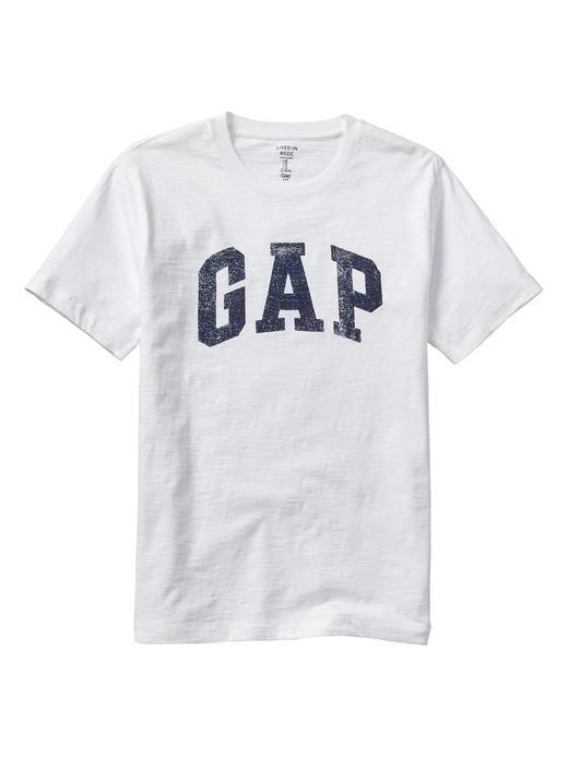 Erkek beyaz Gap Logo T-Shirt