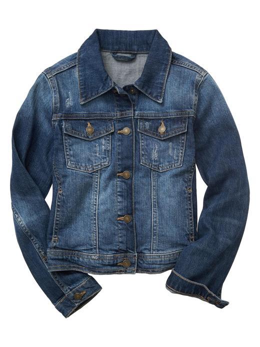 denim Eskitilmiş denim ceket
