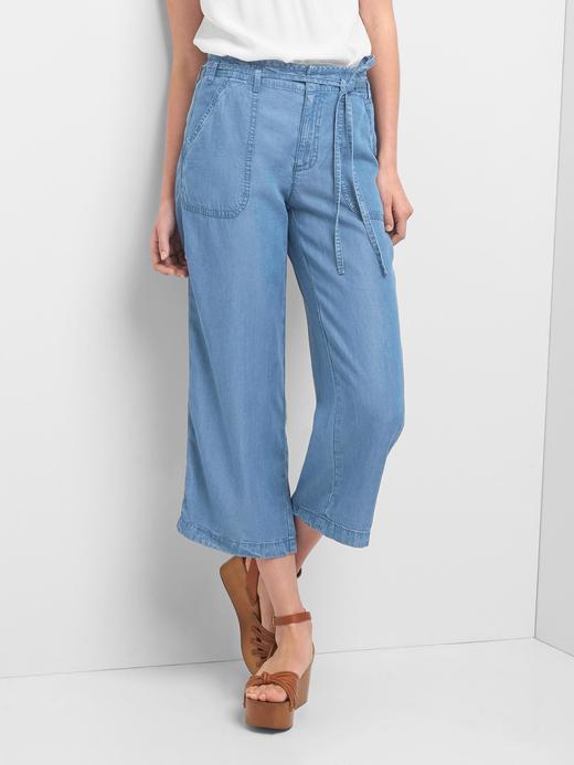 TENCEL™ geniş paçalı pantolon