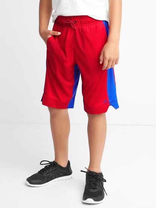 kırmızı GapFit kids spor şort