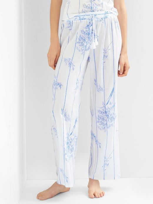 Kadın Beyaz Desenli pijama altı