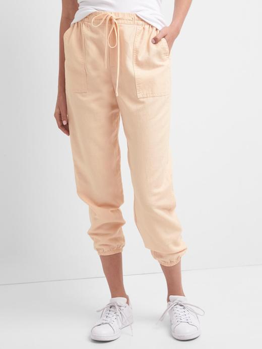 Pamuk keten karışımlı jogger pantolon