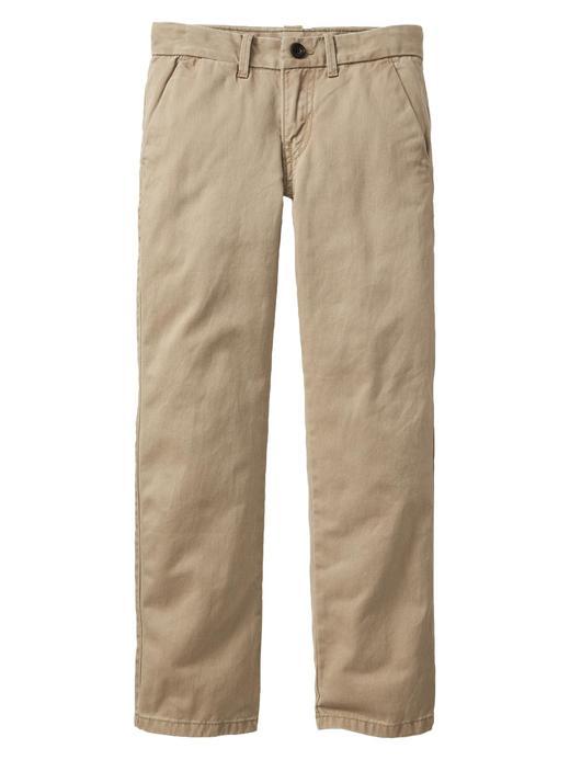 Slim straight fit khaki pantolon