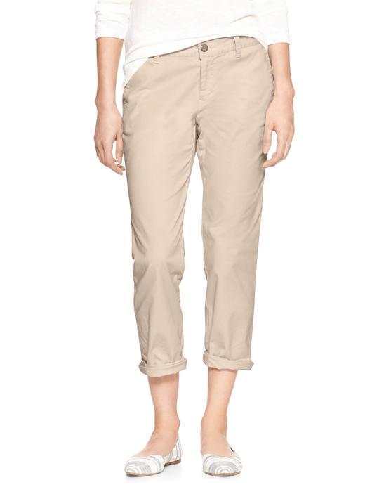 Girlfriend khaki pantolon