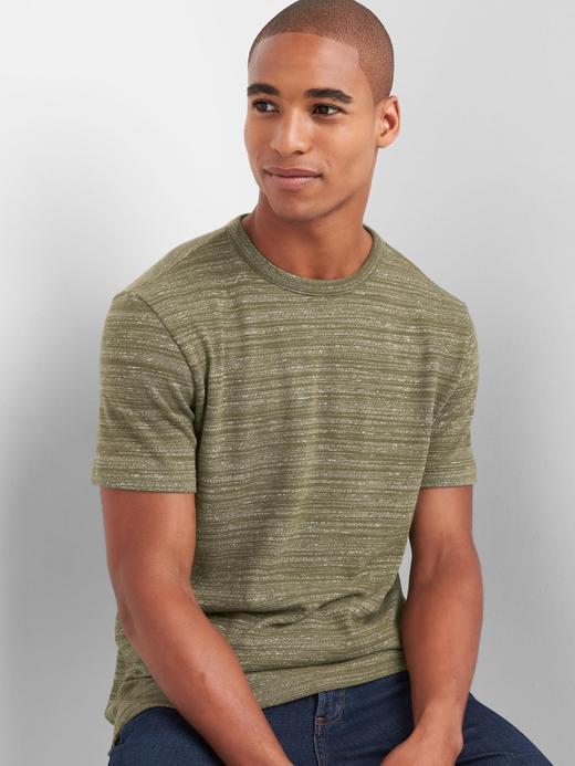 koyu yeşil Softspun bisiklet yakalı t-shirt