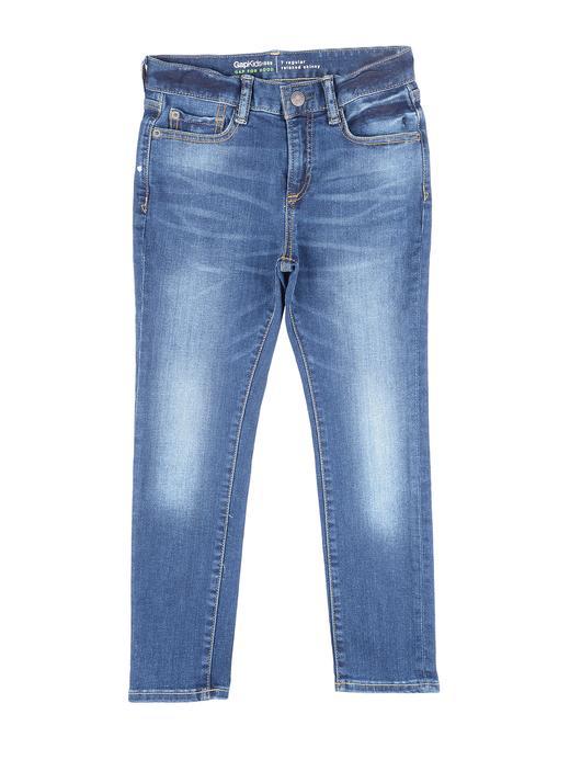 Erkek Çocuk orta yıkama Medium yıkamalı skinny jean pantolon