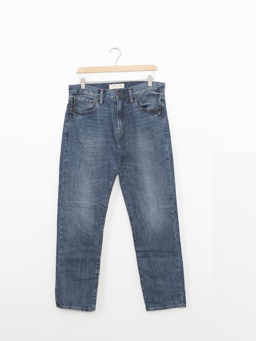 Vintage yıkamalı straight jean pantolon
