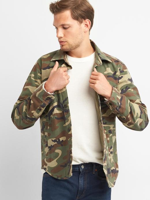 kamuflaj Kamuflaj desenli gömlek ceket