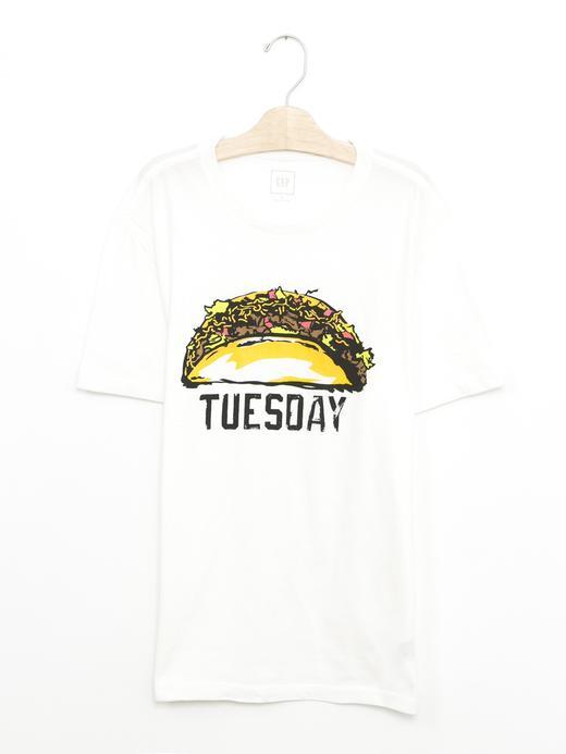 Erkek kırık beyaz Grafik desenli t-shirt