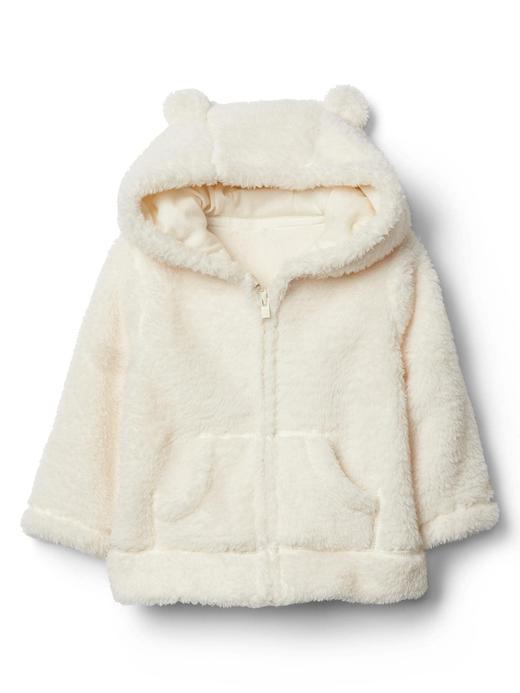 Bebek renkli Ayıcık fermuarlı sweatshirt
