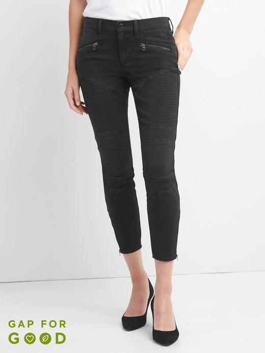 Siyah Orta belli true skinny jean pantolon