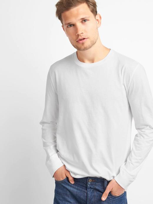 Erkek beyaz Essential bisiklet yaka t-shirt