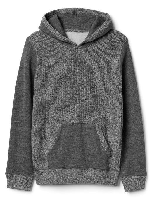Yün karışımlı kapüşonlu sweatshirt