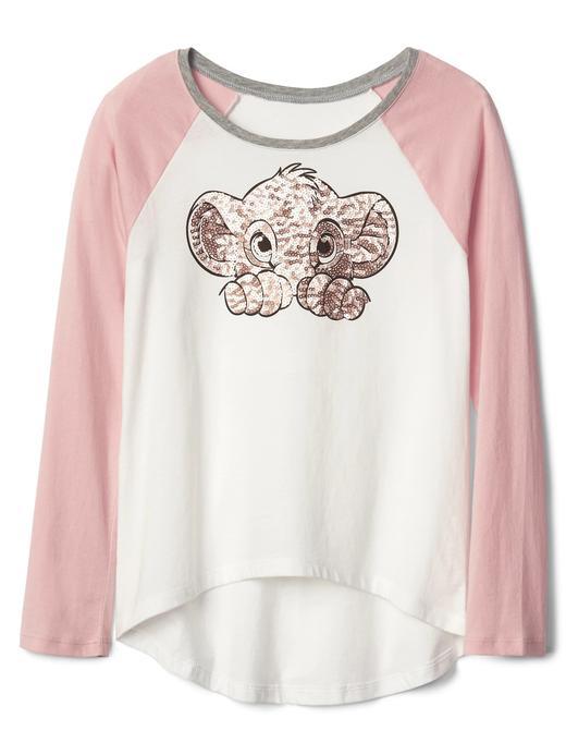 pembe GapKids | Disney işlemeli raglan t-shirt