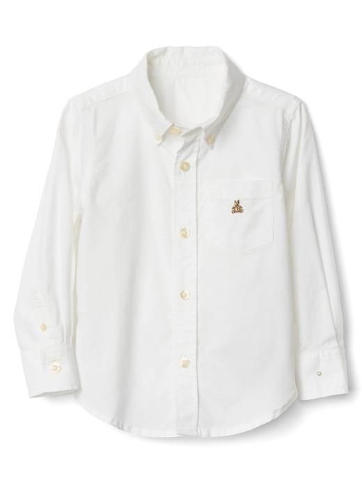 Bebek Beyaz Oxford düğmeli gömlek