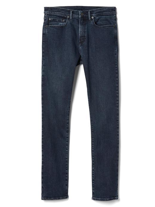 Erkek siyah/mavi Skinny fit jean pantolon