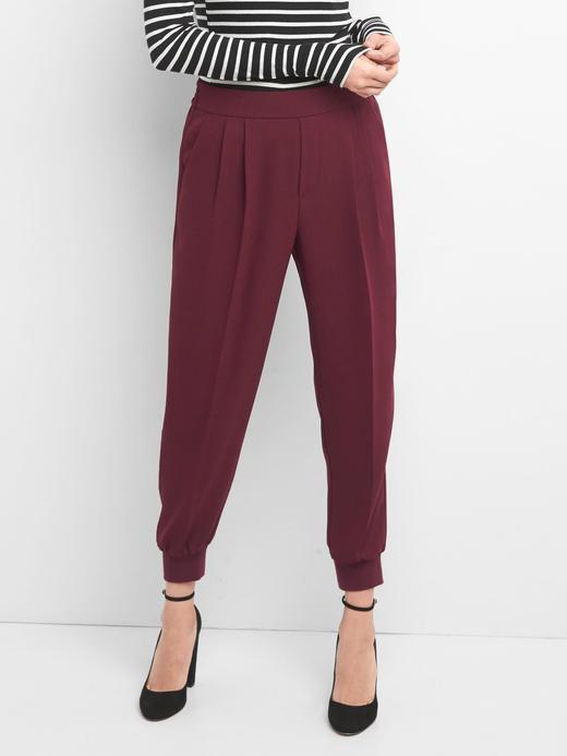Krepe jogger pantolon