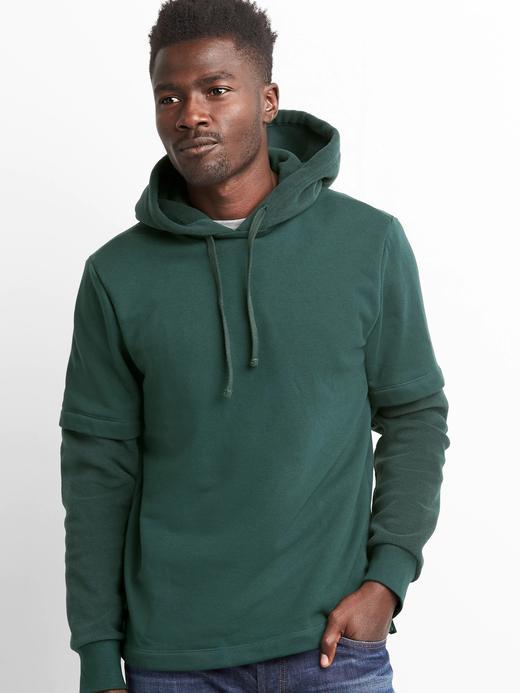 Polar astarlı kapüşonlu sweatshirt