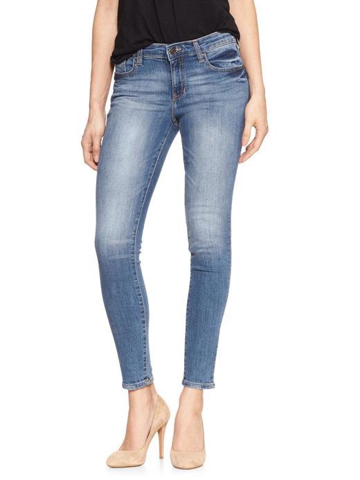 Kadın orta indigo Orta belli jegging pantolon