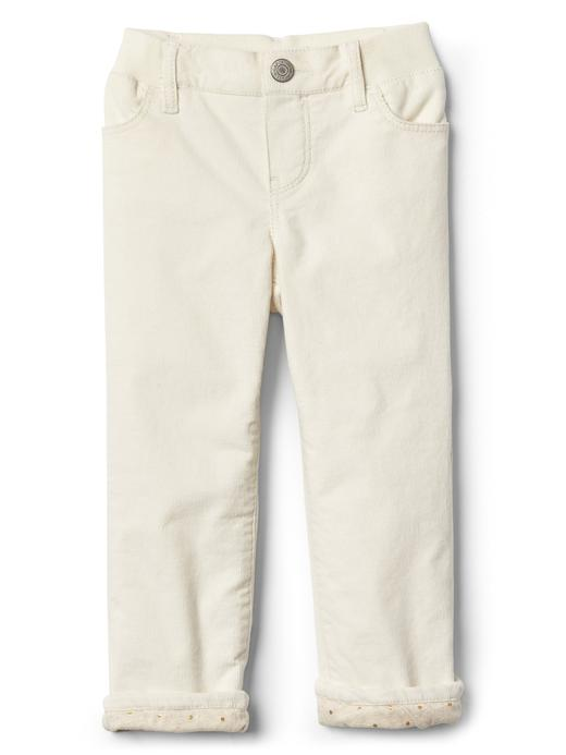 Bebek renkli Poplin astarlı straight jean pantolon