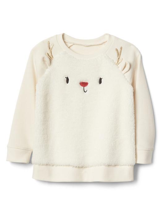 Grafik desenli yumuşak sweatshirt