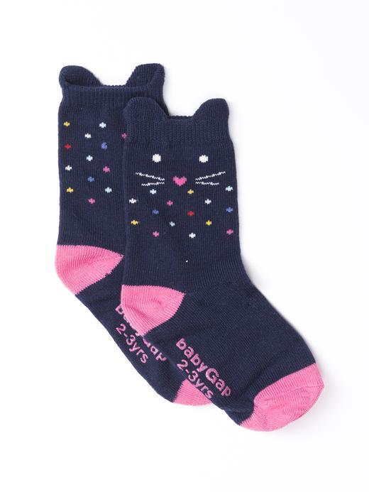 Desenli kedicik çorap