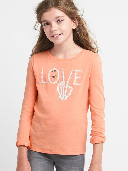 Kız Çocuk pembe Grafik desenli t-shirt